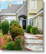 Modern Suburban House Hayward California 32 Metal Print