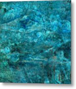 Modern Turquoise Art - Deep Mystery - Sharon Cummings Metal Print