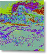 Modified Mountain Ddd4 Metal Print