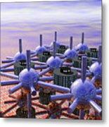 Modular City Metal Print