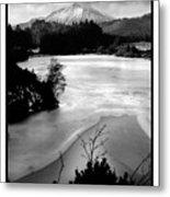 Moel Siabod Viewed From Llyn Glangors Lake Snowdonia Metal Print