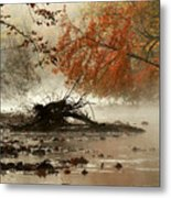 Mohican In Autumn Metal Print