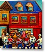 Moishes Steakhouse Hockey Practice Metal Print