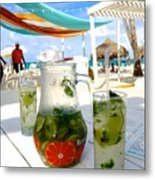 Mojitos On The Beach- Punta Cana Metal Print