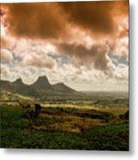 Moka Mountains Metal Print
