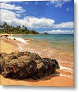 Mokapu Beach Maui Metal Print