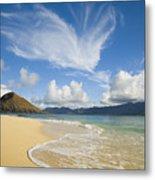 Mokulua Island Beach Metal Print