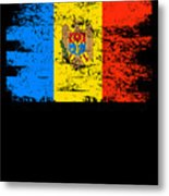 Moldova Gift Country Flag Patriotic Travel Shirt Europe Light Metal Print