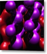 Molecular Abstract Metal Print