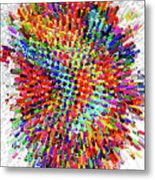 Molecular Floral Abstract Metal Print