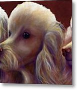 Molly Charlie and Abby Metal Print