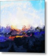 Moment In Blue Spaces Metal Print