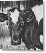 Momma Cow Metal Print
