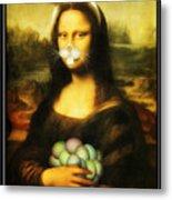 Mona Lisa Bunny Metal Print