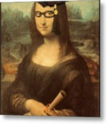 Mona Lisa  Graduation Day Metal Print