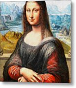 Mona Lisa Painting Metal Print