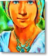 Mona Lisa Young - Da Metal Print