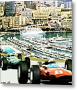 Monaco Grand Prix Racing Poster - Original Art Work Metal Print