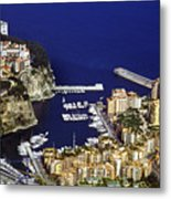 Monaco On The Mediterranean Metal Print