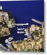 Monaco On The Mediterranean Metal Print