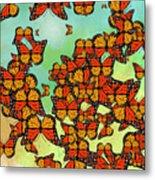 Monarch Butterflies Metal Print