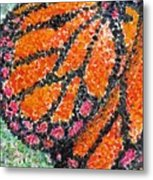 Monarch Butterfly On Ocotillo Blossom Metal Print