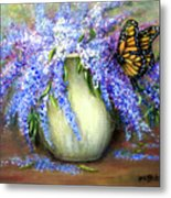 Monarch Of The Lilacs Metal Print
