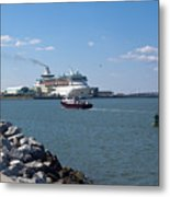 Monarch Of The Seas At Port Canaveral In Florida Metal Print