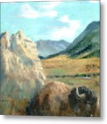 Monarch Of Yellowstone Metal Print