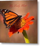 Monarch On Tithonia Mother's Day Gifts Metal Print