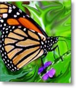 Monarch Swirl 1 Metal Print