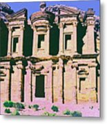 Monastery At Petra Metal Print by Dominic Piperata