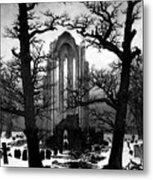 Monastery Graveyard In The Snow Cdf Metal Print
