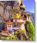 Monastery In Bhutan Metal Print