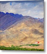 Monastery In The Mountains Metal Print