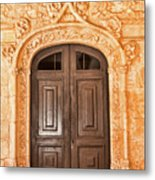 Monastery Of Jeronimos Door Metal Print