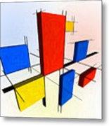 Mondrian 3d Metal Print