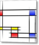 Mondrian In Motion 2 Metal Print