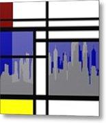 Mondrian In N Y Metal Print
