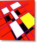 Mondrian Lays A Carpet Metal Print