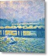 Monet: Charing Cross Metal Print