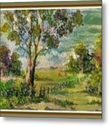 Monetcalia Catus 1 No. 3 Landscape Scene Near Fontainebleau L B With Alt. Decorative Printed Frame. Metal Print