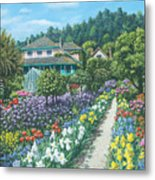 Monet's Garden Giverny Metal Print