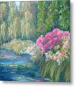 Monet's Pond Metal Print