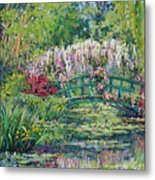 Monets Pond In Spring Metal Print