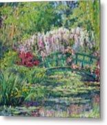 Monets Pond In Spring Metal Print