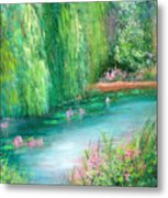 Monet's Pond Metal Print