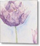 Monet's Tulip Metal Print