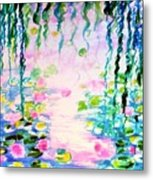 Monet's Water Lily Pond  Metal Print