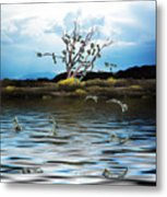 Money Tree On A Windy Day Metal Print